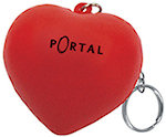 Love Heart Keyring Stress Balls